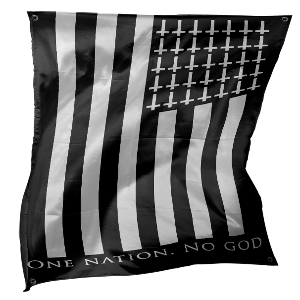 Image of One Nation No God - Flag