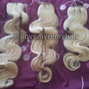 Image of High lift blonde Brazilian natural straight and body wave