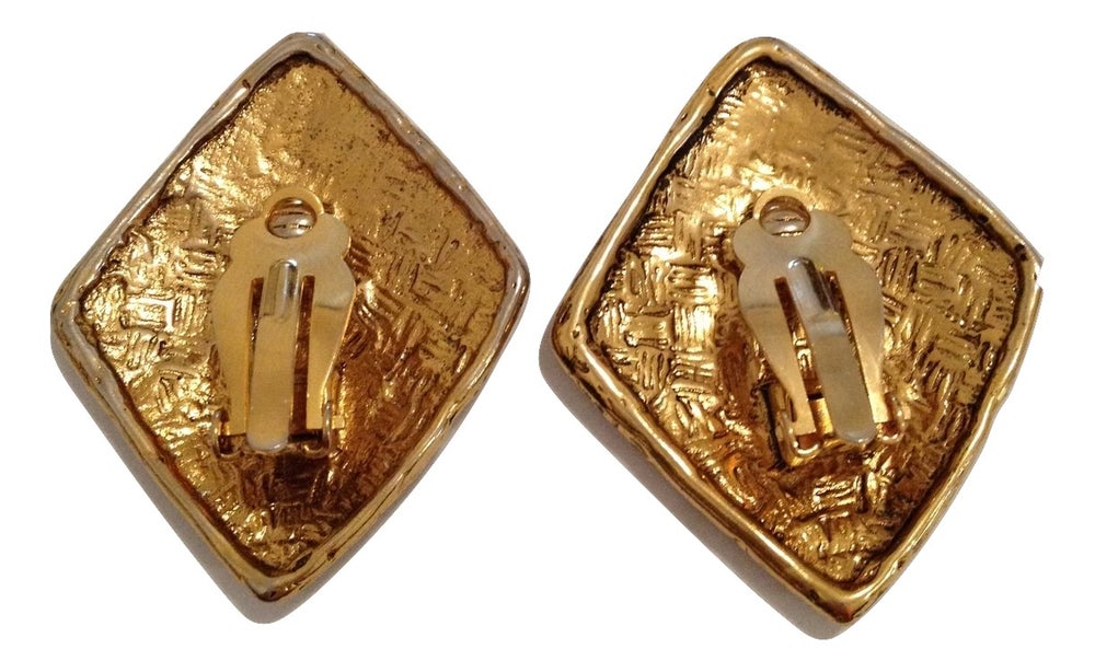 Image of SOLD Givenchy Massive Logo Earrings - RARE!!