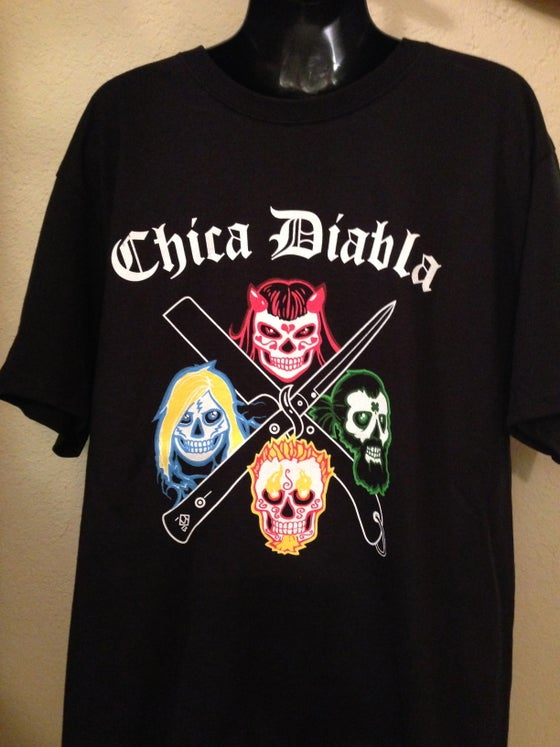 Image of Chica Diabla Logo T-Shirt - Black - Men's and Women's sizes