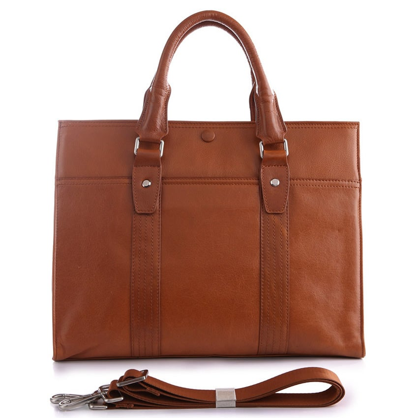 "Image of Handmade Superior Leather Briefcase / 13"" MacBook or 13"" 14"" Laptop Bag (n5)"