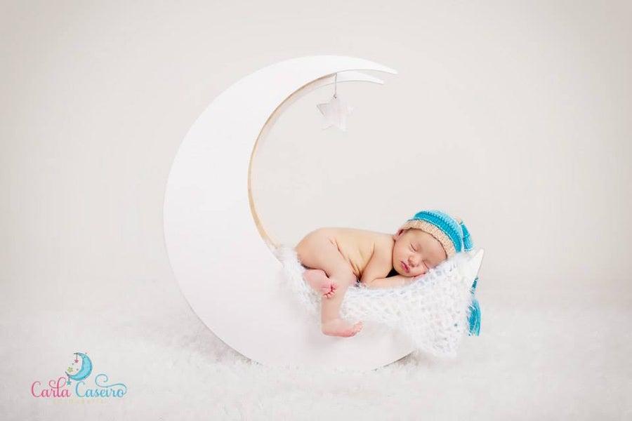 Image of Newborn Wooden Moon Photo Prop
