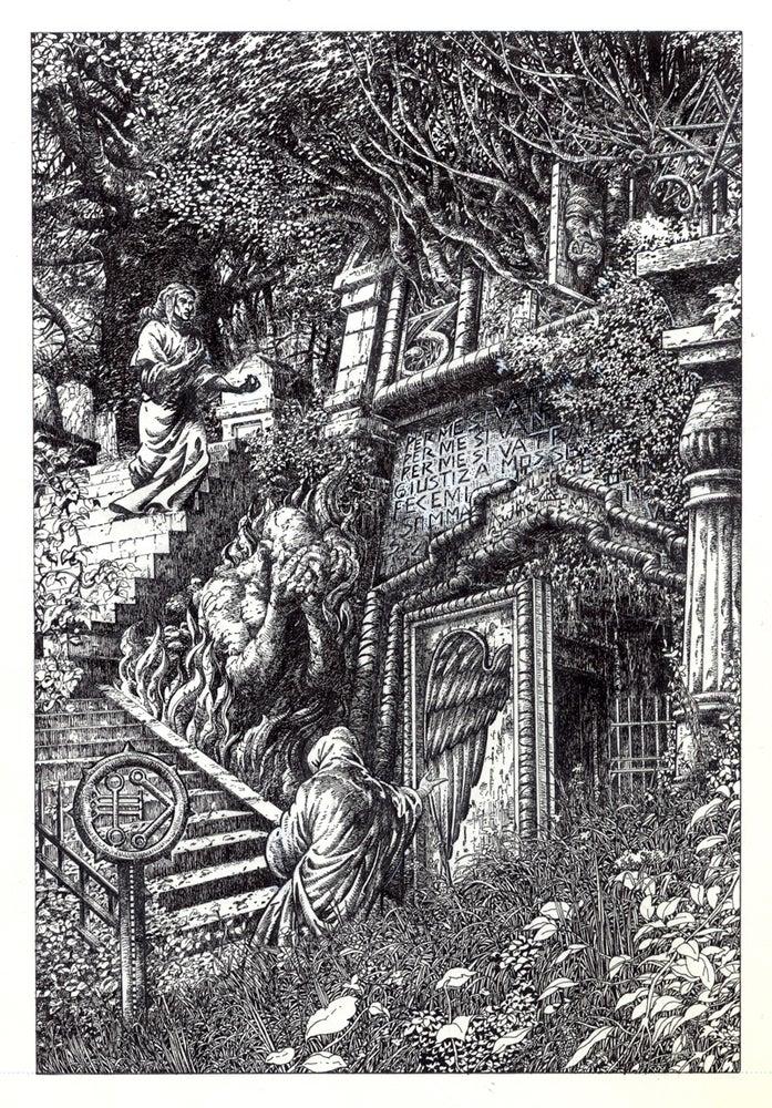 Image of GATES OF HELL  DANTE Original Art