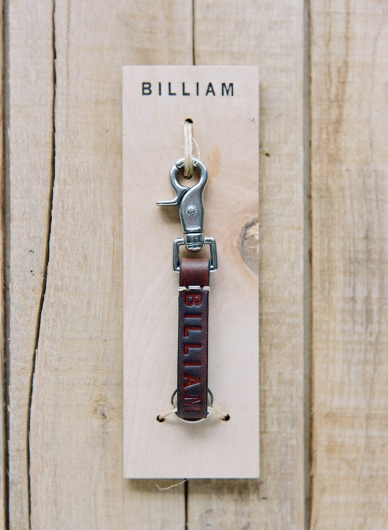 "Image of ""Wood Grain"" Leather Key Chain"