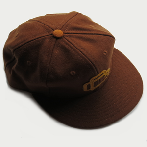 Image of EASTBOUND CAP [BROWN] BY EBBETS FIELD FLANNELS.