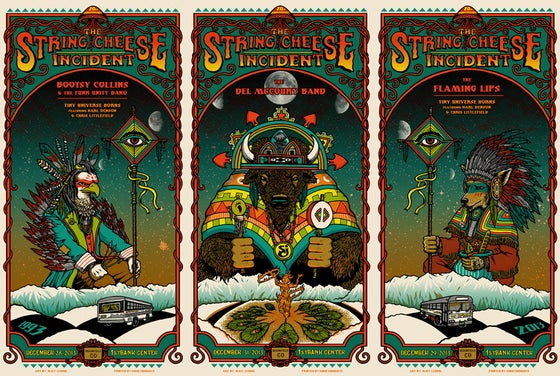 Image of STRING CHEESE INCIDENT - NYE 2013 triptych