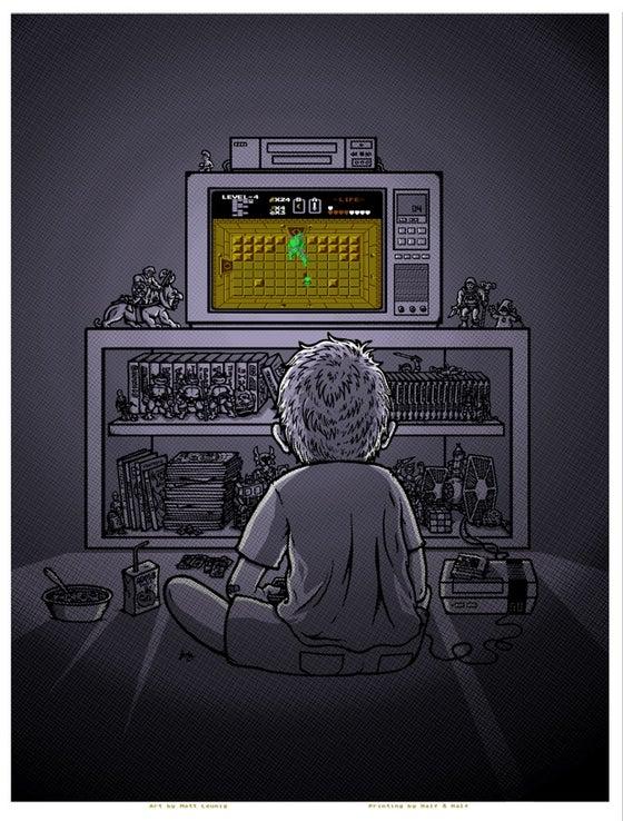 "Image of ""1986"" art print - Zelda variant"