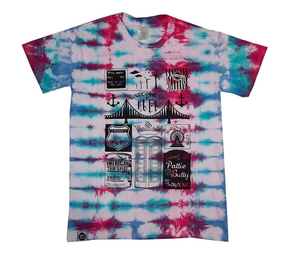 Image of Hull Loves 'Welcome To Hull' Tie Dye T-Shirt