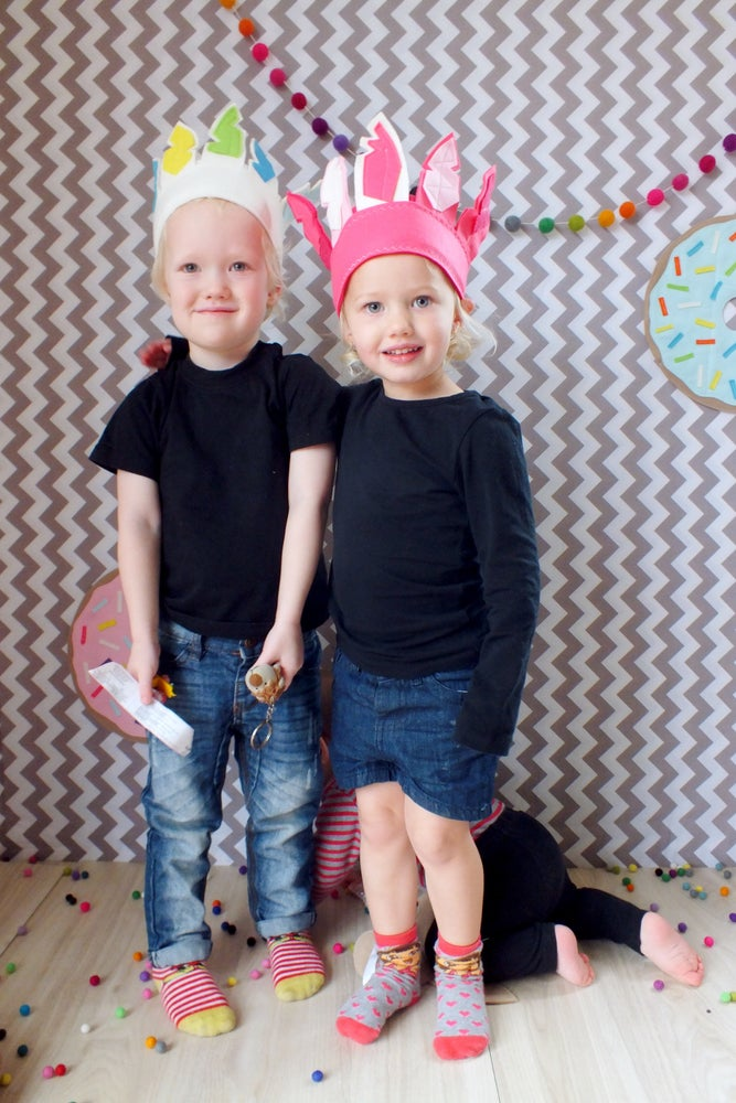 Image of Feather Headdress - confetti girls
