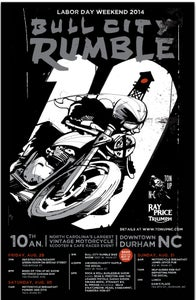 "Image of Bull City Rumble 10 small 11"" x 17"" poster"