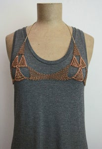 Image of Calder chainmaille bra - rose gold + colors