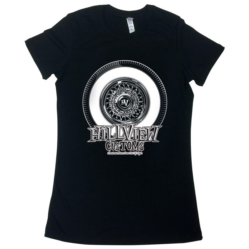 """Image of Hillview Keepin' It """"True"""" Girls Crew Neck in BLACK (100% cotton)"""