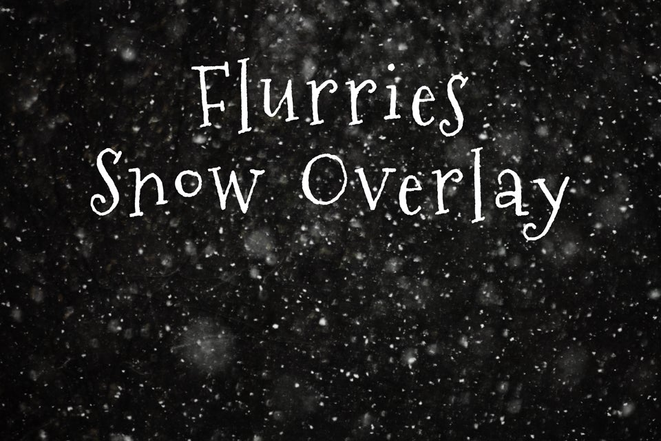 Flurries Snow Overlay / Shoot for the Moon Images ... Real Snowflake