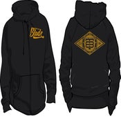 Image of GOLD PRINT ZIP UP HOODIE