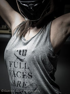 Image of Full Faces Are Sexy UNISEX Tri Blend Tank