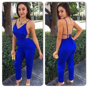 Image of Cute blue elegant jumpsuit