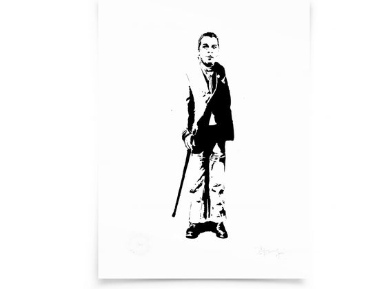 Image of Ian Dury on paper - screenprint