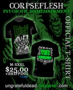 Image of CORPSEFLESH 'Psychotic Dismemberment' T-Shirt