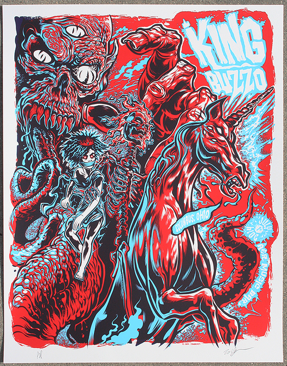 Image of King Buzzo 3 Color Silkscreen Gig Poster