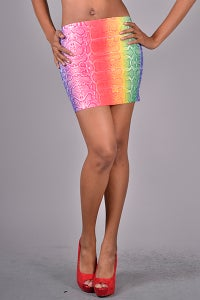 Image of Rainbow Mini Skirt