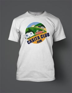 Image of Official Casita Club Logo T-Shirt (front print)