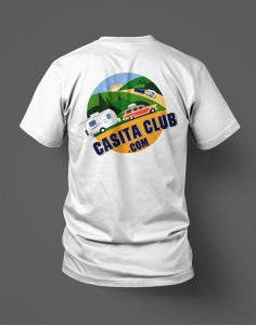 Image of Official Casita Club Logo T-Shirt (back print)