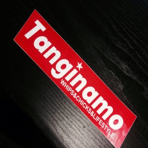 Image of TANGINAMO RED BOX LOGO BUMPER STICKER