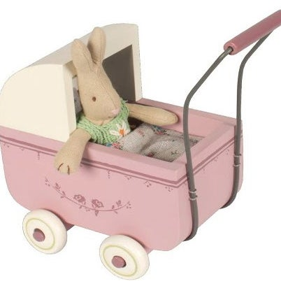 Image of Wooden Pram, Lavender