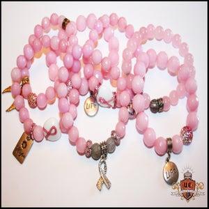 Image of Urban Ellegance New Pink Ribbon Bracelets