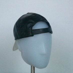 Image of 2 Tone Leather Cap - Snow White
