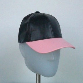 Image of 2 Tone Leather Cap - Baby Pink