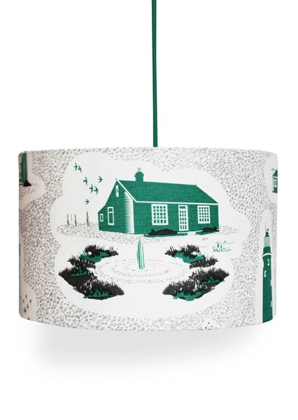 Image of Dungeness Linen Lampshade - Coach Emerald