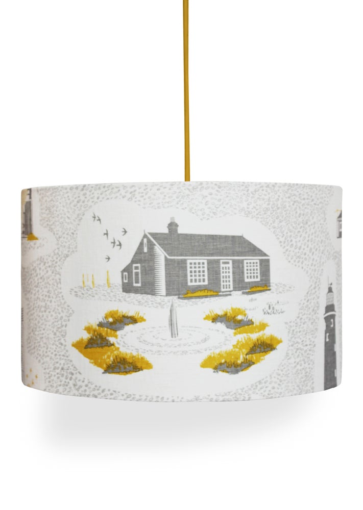 Image of Dungeness Linen Lampshade - Concrete