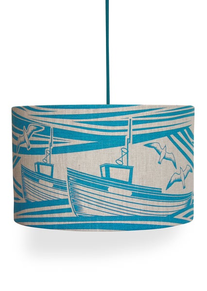 Image of Whitby Linen Lampshade - Lido