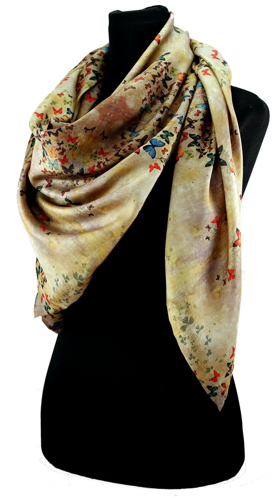 Limited Edition Lily Greenwood 100 Silk Scarf Summer