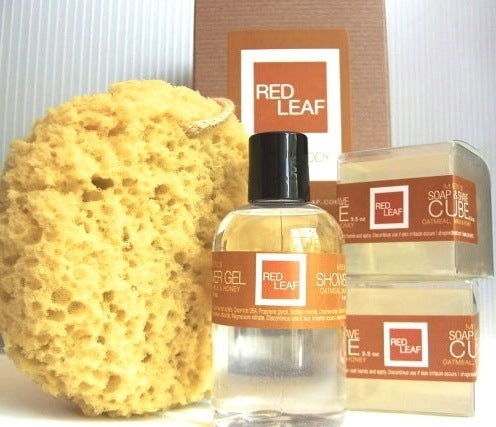 Image of Mens Gift Box Set With Shaving Soaps Body Wash & Shower Sponge