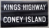 Image of 1950s IND New York Subway Sign CONEY ISLAND, 23x12 inches