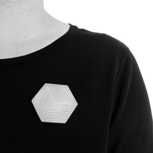 Image of Brooch 'Ply / Hexagon'