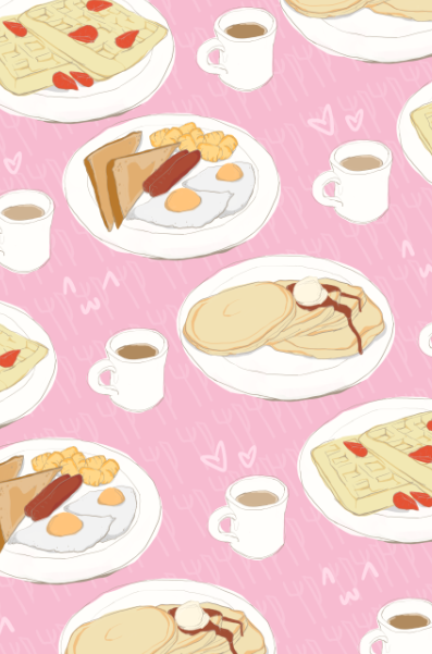 Image of Cute Breakfast Pattern Print