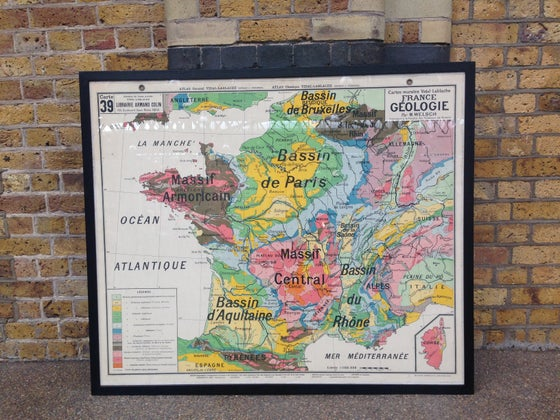 Image of 1960s Geological Map of France