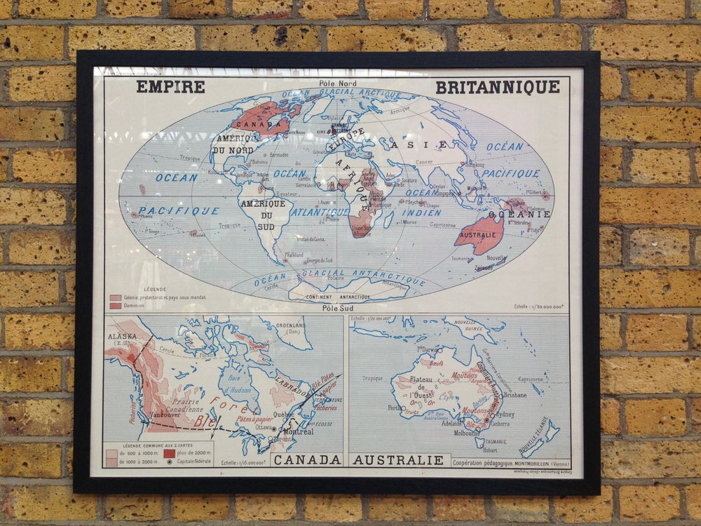 Image of 1950s Map of the British Empire
