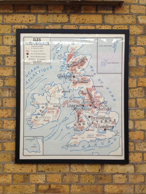 Image of 1950s Map of the UK