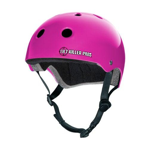 Image of PRO SKATE HELMET - gloss pink