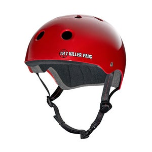 Image of PRO SKATE HELMET - gloss red