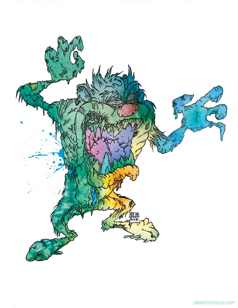 "Image of Print ""ZombManian Devil"""