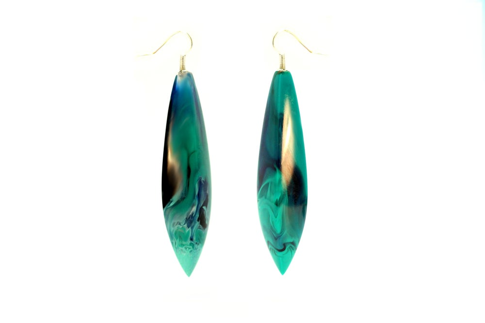Image of Jade Swirl Earrings