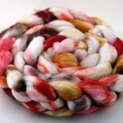 Image of Brass Petals - Superwash Merino/Cashmere/Silk Wool Top/Roving