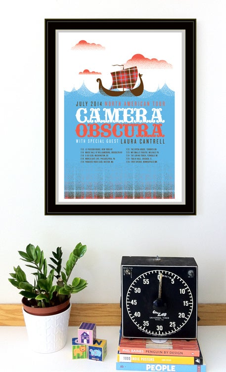 Image of Camera Obscura 2014 Tour Poster