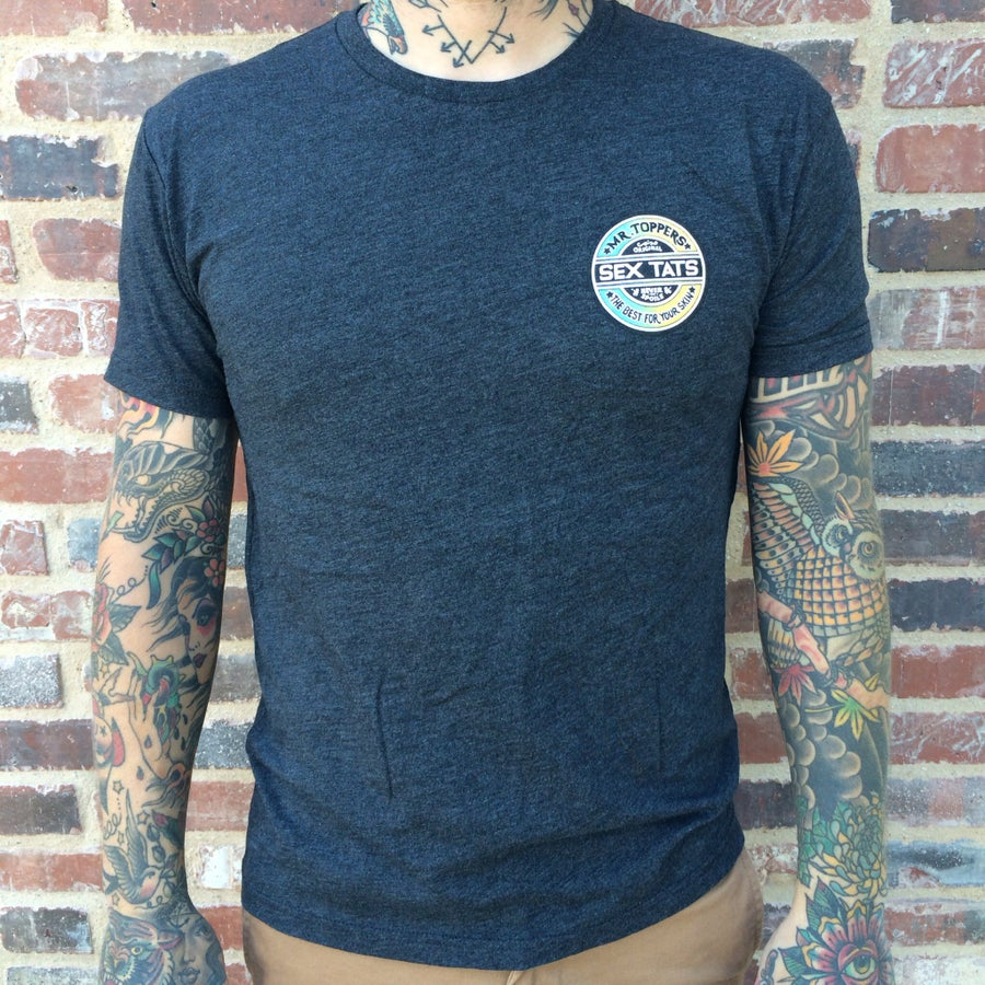 Image of SHAUN TOPPER SEX TATS - GREY T-SHIRT