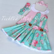 Image of Rose Water Suspender Skirt, top and head scarf